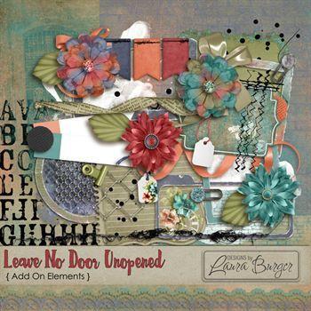 Leave No Door Unopened Add On Elements Digital Art - Digital Scrapbooking Kits