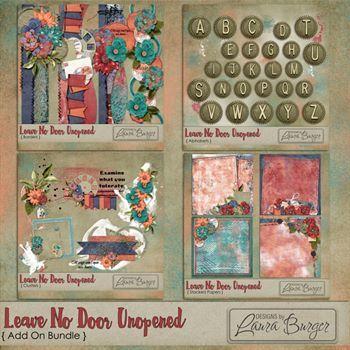 Leave No Door Unopened Add On Bundle Digital Art - Digital Scrapbooking Kits