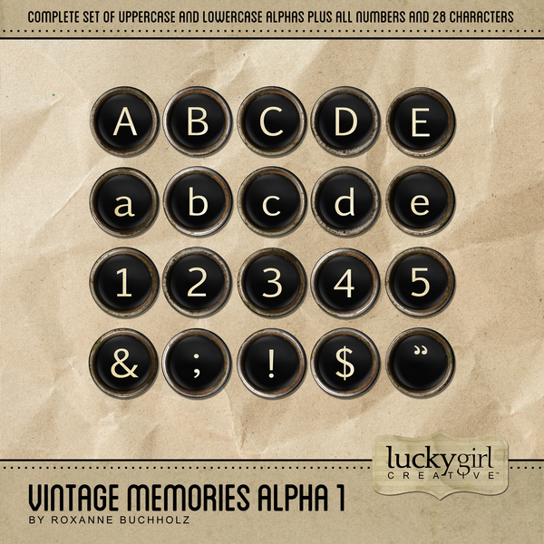 Vintage Memories Alpha 1 Digital Art - Digital Scrapbooking Kits
