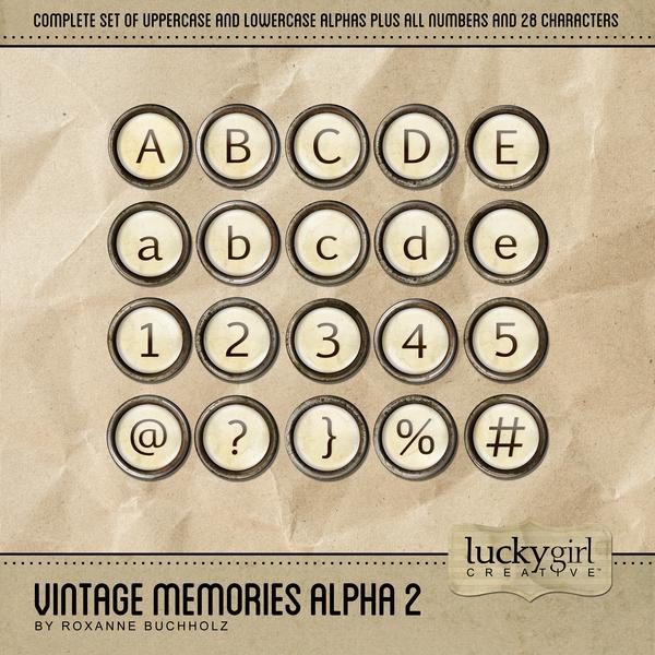 Vintage Memories Alpha 2 Digital Art - Digital Scrapbooking Kits