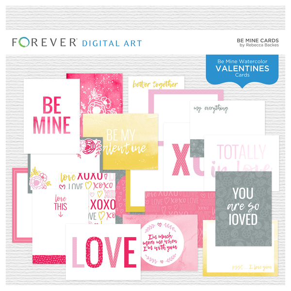 Be Mine Cards Digital Art - Digital Scrapbooking Kits