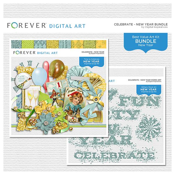 Celebrate - New Year Bundle Digital Art - Digital Scrapbooking Kits