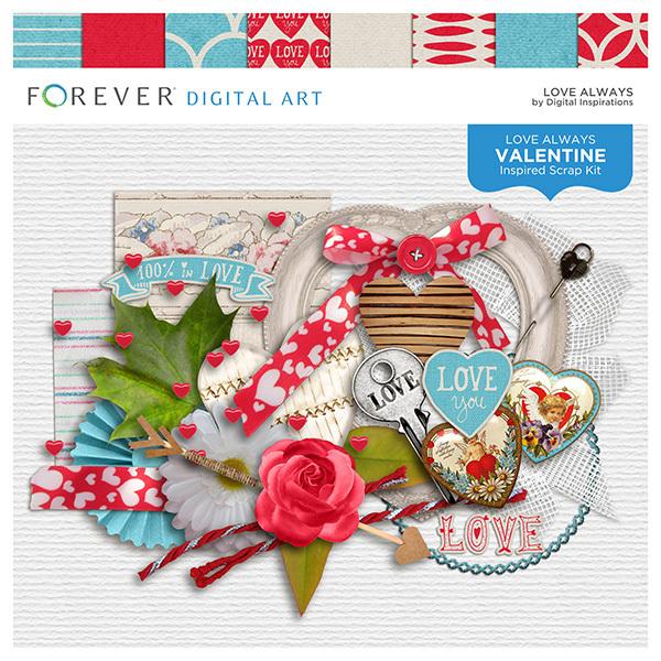 Love Always Digital Art - Digital Scrapbooking Kits