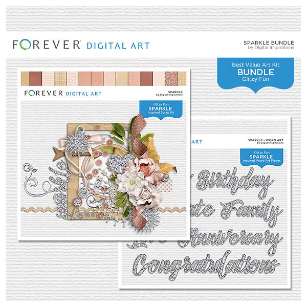 Sparkle Bundle Digital Art - Digital Scrapbooking Kits