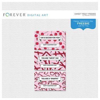 Sweet Treat Freebie Digital Art - Digital Scrapbooking Kits