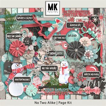 No Two Alike - Page Kit Digital Art - Digital Scrapbooking Kits