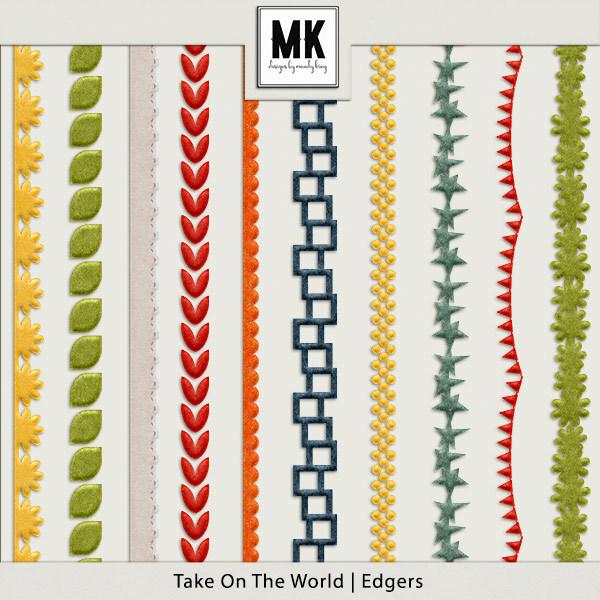 Take On The World - Edgers Digital Art - Digital Scrapbooking Kits
