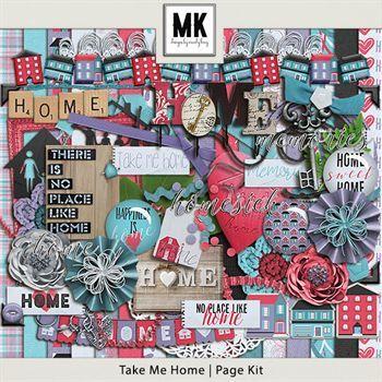 Take Me Home - Page Kit Digital Art - Digital Scrapbooking Kits