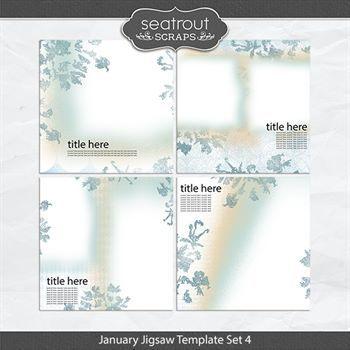 January Jigsaw Template Set 4
