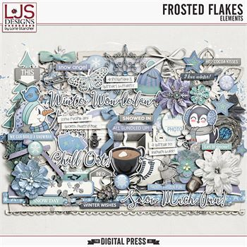 Frosted Flakes - Elements Digital Art - Digital Scrapbooking Kits