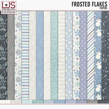 Frosted Flakes - Papers Digital Art - Digital Scrapbooking Kits