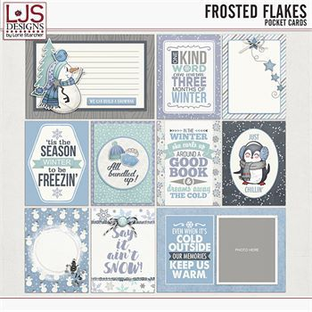 Frosted Flakes - Pocket Cards Digital Art - Digital Scrapbooking Kits
