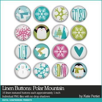Polar Mountain Linen Buttons
