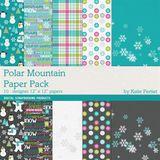 Polar Mountain Scrapbook Kit