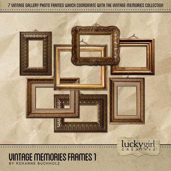 Vintage Memories Frames 1 Digital Art - Digital Scrapbooking Kits