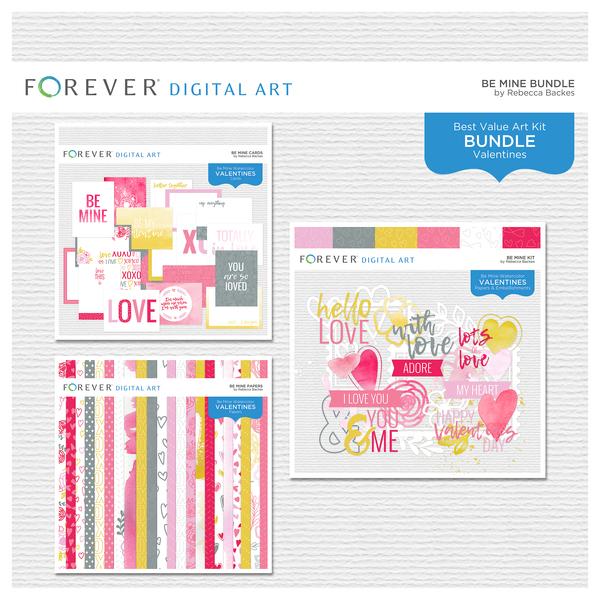 Be Mine Bundle Digital Art - Digital Scrapbooking Kits