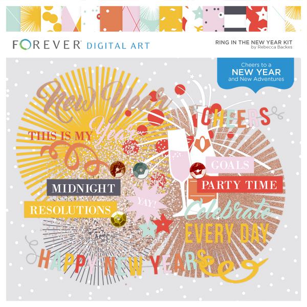 Ring In The New Year Digital Art - Digital Scrapbooking Kits
