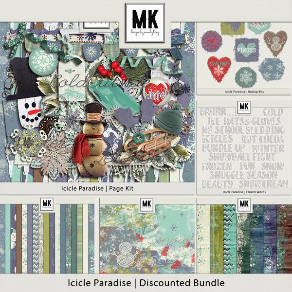 Icicle Paradise - Discounted Bundle Digital Art - Digital Scrapbooking Kits