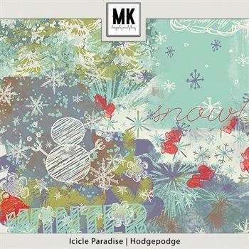 Icicle Paradise - Hodgepodge Digital Art - Digital Scrapbooking Kits
