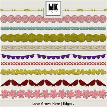 Love Grows Here - Edgers Digital Art - Digital Scrapbooking Kits