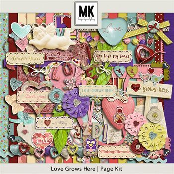 Love Grows Here - Page Kit Digital Art - Digital Scrapbooking Kits