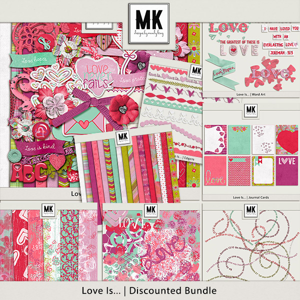 Love Is - Discounted Bundle Digital Art - Digital Scrapbooking Kits