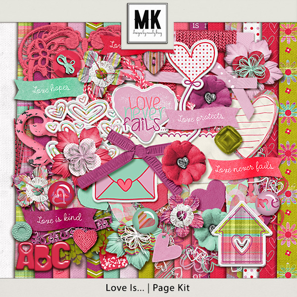 Love Is - Page Kit Digital Art - Digital Scrapbooking Kits