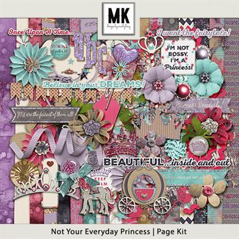 Not Your Everyday Princess Page Kit Digital Art - Digital Scrapbooking Kits
