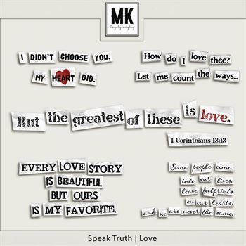 Speak Truth - Love Digital Art - Digital Scrapbooking Kits