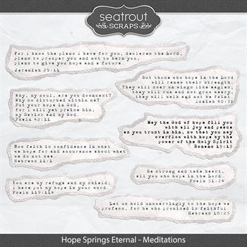 Hope Springs Eternal Meditations Digital Art - Digital Scrapbooking Kits