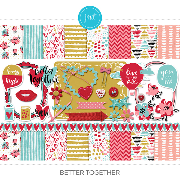 Better Together Digital Art - Digital Scrapbooking Kits