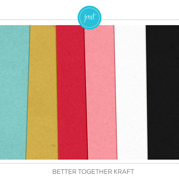 Better Together Kraft Digital Art - Digital Scrapbooking Kits