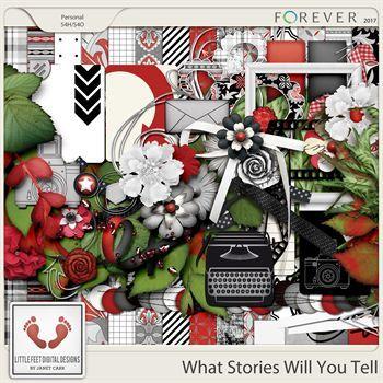 What Stories Will You Tell Digital Art - Digital Scrapbooking Kits