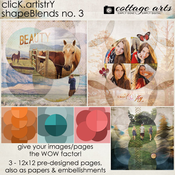 Click.Artistry Shape Blends 3 Digital Art - Digital Scrapbooking Kits