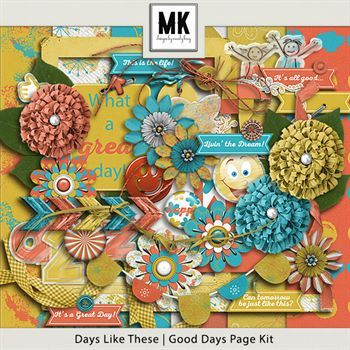Days Like These - Good Days Page Kit Digital Art - Digital Scrapbooking Kits