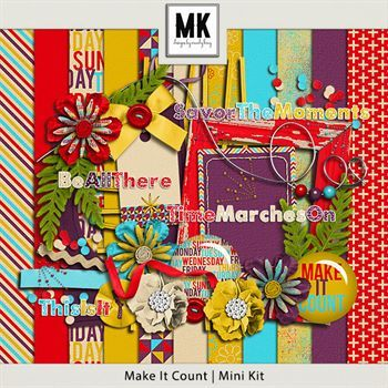 Make It Count - Mini Kit Digital Art - Digital Scrapbooking Kits