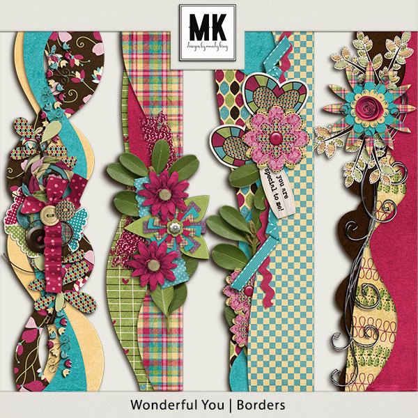 Wonderful You - Borders Digital Art - Digital Scrapbooking Kits