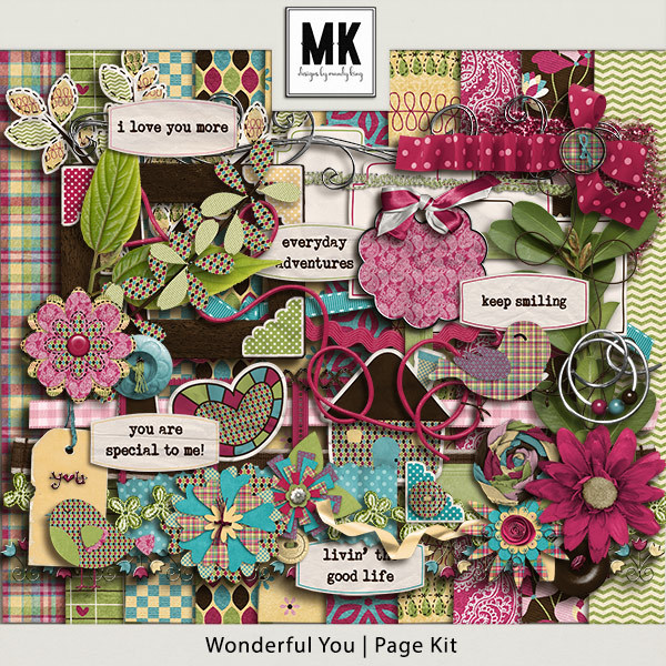 Wonderful You - Page Kit Digital Art - Digital Scrapbooking Kits