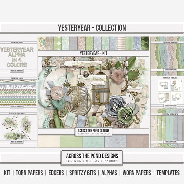 Yesteryear - Discounted Bundle Digital Art - Digital Scrapbooking Kits