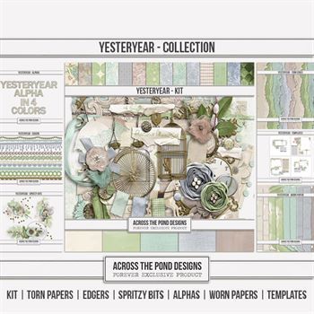 Yesteryear - Discounted Bundle Digital Art - Digital Scrapbooking Kits