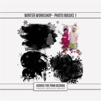 Winter Workshop - Photo Masks 1 Digital Art - Digital Scrapbooking Kits