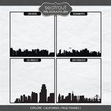 Explore California - Page Frames