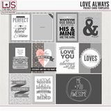 Love Always - Pocket Card Templates