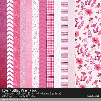 Lovely Littles Paper Pack Digital Art - Digital Scrapbooking Kits