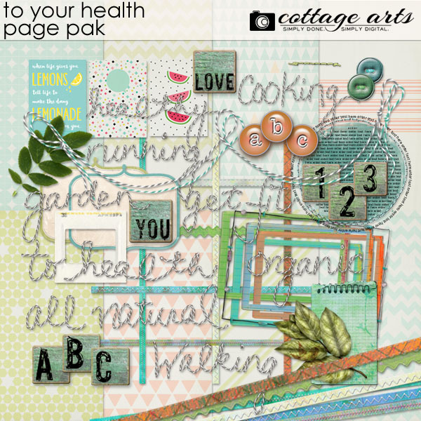 To Your Health Page Pak Digital Art - Digital Scrapbooking Kits