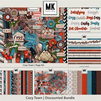 Cozy Town - Discounted Bundle Digital Art - Digital Scrapbooking Kits