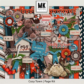 Cozy Town - Page Kit Digital Art - Digital Scrapbooking Kits