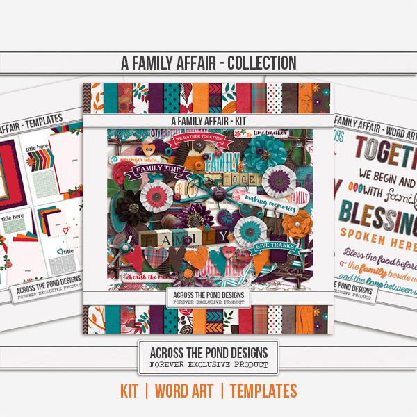 A Family Affair - Discounted Bundle Digital Art - Digital Scrapbooking Kits