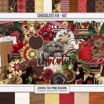 Chocolate Fix - Page Kit Digital Art - Digital Scrapbooking Kits
