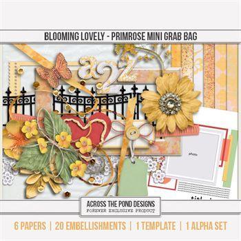 Blooming Lovely - Primrose Mini Grab Bag Digital Art - Digital Scrapbooking Kits